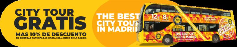 City tour gratis, más de 10% de descuento en compras anticipadas hasta 24hs antes de la salida
